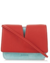 Jil Sander View Micro Suede And Leather Cross Body Bag