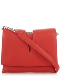 Jil Sander View Small Contrast Lined Leather Cross Body Bag