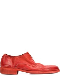 Red Leather Derby Shoes