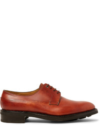 John Lobb Croft Panelled Leather Derby Shoes