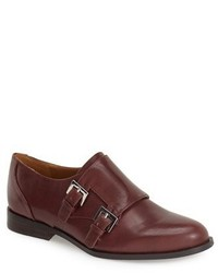 Red Leather Double Monks