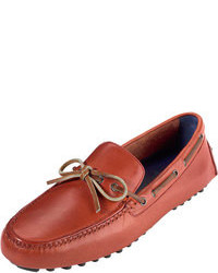 Red Leather Driving Shoes