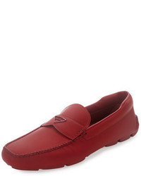 Leather slip on loafer with rubber sole medium 699781