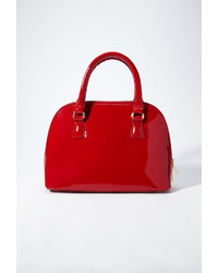 Forever 21 Faux Patent Leather Bowler Bag