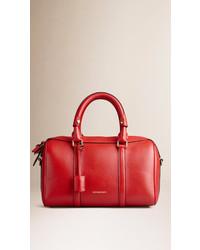 Burberry Medium Leather Bowling Bag