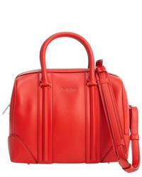 Givenchy Red Leather And Suede Lucrezia Duffel Convertible Bag