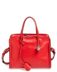 Alexander McQueen Small Padlock Leather Duffel