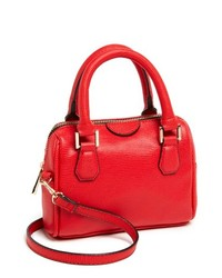 Topshop Faux Leather Crossbody Bag Small Red