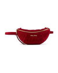 Miu Miu Convertible Med Matelass Velvet Belt Bag