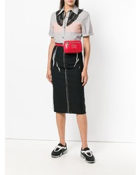 e847ac6e863620 ... Red Leather Fanny Packs Prada Diagramme Belt Bag Prada Diagramme Belt  Bag ...