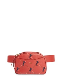 Chloé Embroidered Horse Leather Belt Bag