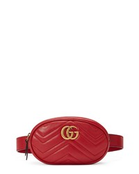 Gucci Gg Marmont 20 Matelasse Leather Belt Bag