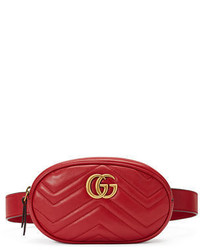 Gucci Gg Marmont Small Matelass Leather Belt Bag