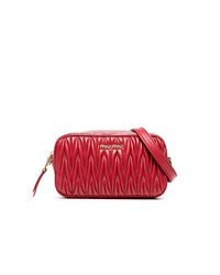 Miu Miu Red Matelass Leather Belt Bag