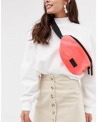 Consigned Zip Front Fluro Bum Bag
