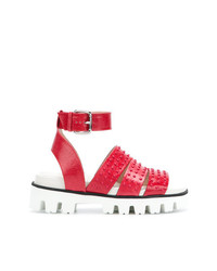 RED Valentino Embossed Strappy Sandals