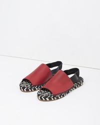 Proenza Schouler Leather Slingback Espadrille