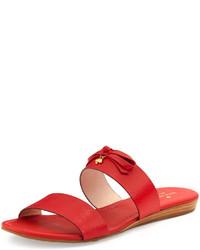Kate Spade New York Tulia Leather Slide Sandal Maraschino Red