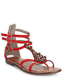 Sam edelman giada beaded leather sandals medium 559473