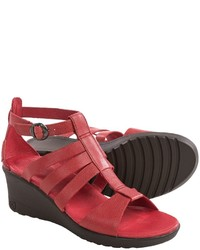 Keen Victoria Gladiator Sandals Leather Wedge Heel