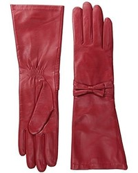 Badgley Mischka Long Leather Bow Glove