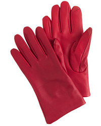 J.Crew Cashmere Lined Leather Tech Gloves