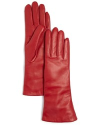 Bloomingdale's Cashmere Lined Long Leather Gloves 100%