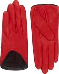 Rag and Bone Rag Bone Lambskin Moto Gloves Red