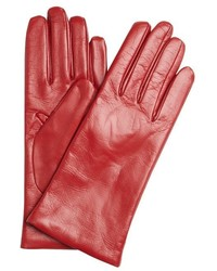 All Gloves Red Nappa Leather Itouch Tech Gloves