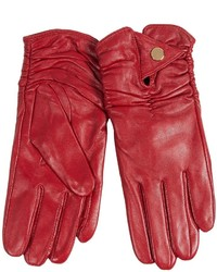 La Fiorentina Sheep Leather Ruched Gloves