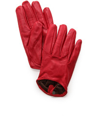 Short leather gloves medium 377407