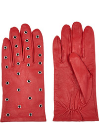 Sandro Sold Out Anl Eyelet Embellished Leather Gloves