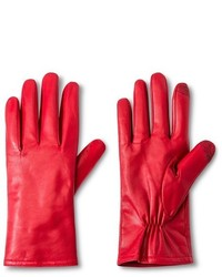 Merona Touch Screen Compatible Sheepskin Leather Gloves Red Tm
