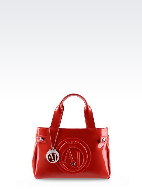 90b036be4c0d ... Armani Jeans Mini Shopping Bag In Patent Faux Leather With Pendant ...