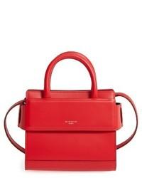 Givenchy Nano Horizon Calfskin Leather Tote Red