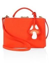 MARK CROSS Grace Box Small Mushroom Leather Crossbody Bag
