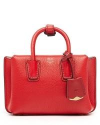 MCM X Mini Milla Leather Tote Red