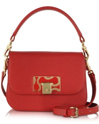 Vivienne Westwood Red Opio Saffiano Leather Small Shoulder Bag