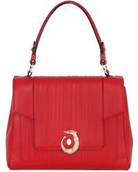 Trussardi Lovy Embossed Leather Top Handle Bag