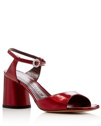 Marc Jacobs Amelia Ankle Strap Block Heel Sandals