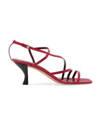 Staud Gita Leather Slingback Sandals