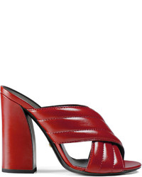 Gucci Leather Crossover Sandal
