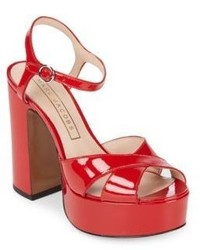 Marc Jacobs Lust Patent Leather Platform Sandal