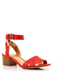 Enzo Angiolini Open Toe City Sandals Tala Block Heel