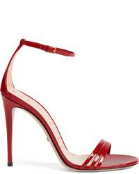Gucci Patent Leather Sandal
