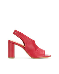 MM6 MAISON MARGIELA Peep Toe Slingback Sandals