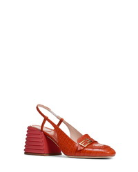 Fendi Proade Slingback Block Heel Sandal
