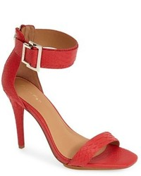 Calvin Klein Sable Leather Suede Ankle Strap Sandal