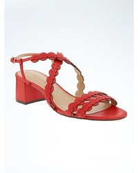 Banana Republic Scalloped Block Heel Sandal