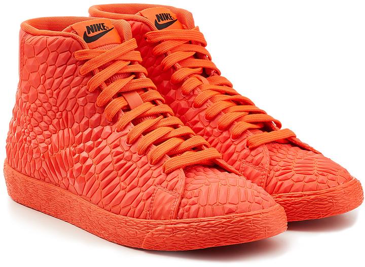 the latest 23b38 1242b ... Red Leather High Top Sneakers Nike Blazer Mid Diamondback Sneakers ...